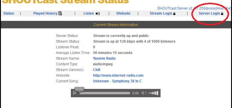 Problem with Shoutcast Authhash – Authhash too long